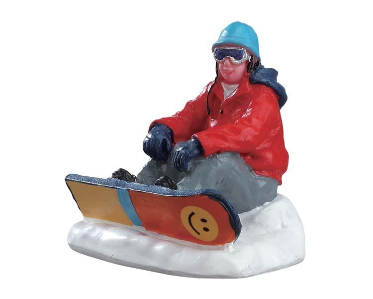 Lemax Snowboarder Che Si Riposa