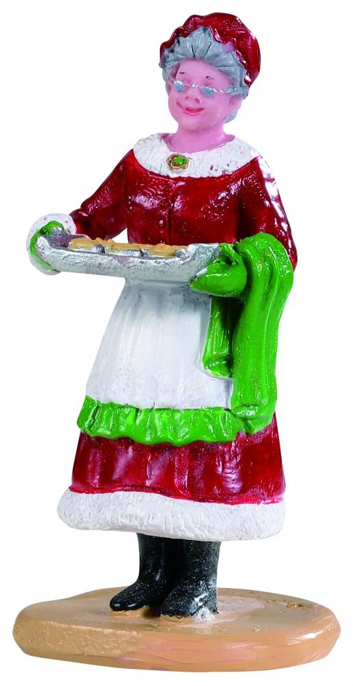 Mamma Natale 'mrs. Claus Cookies' Con Teglia Di Biscotti In Resina, Di Lemax.