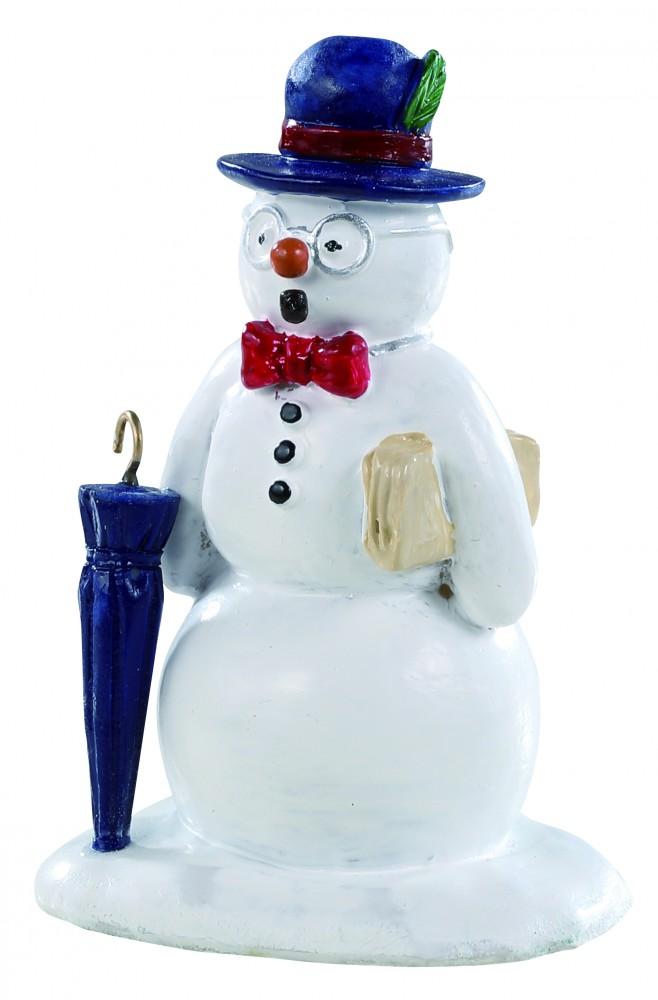 Figure Per Villaggi Natalizi 'dapper & Bonair Snowman', Di Lemax.