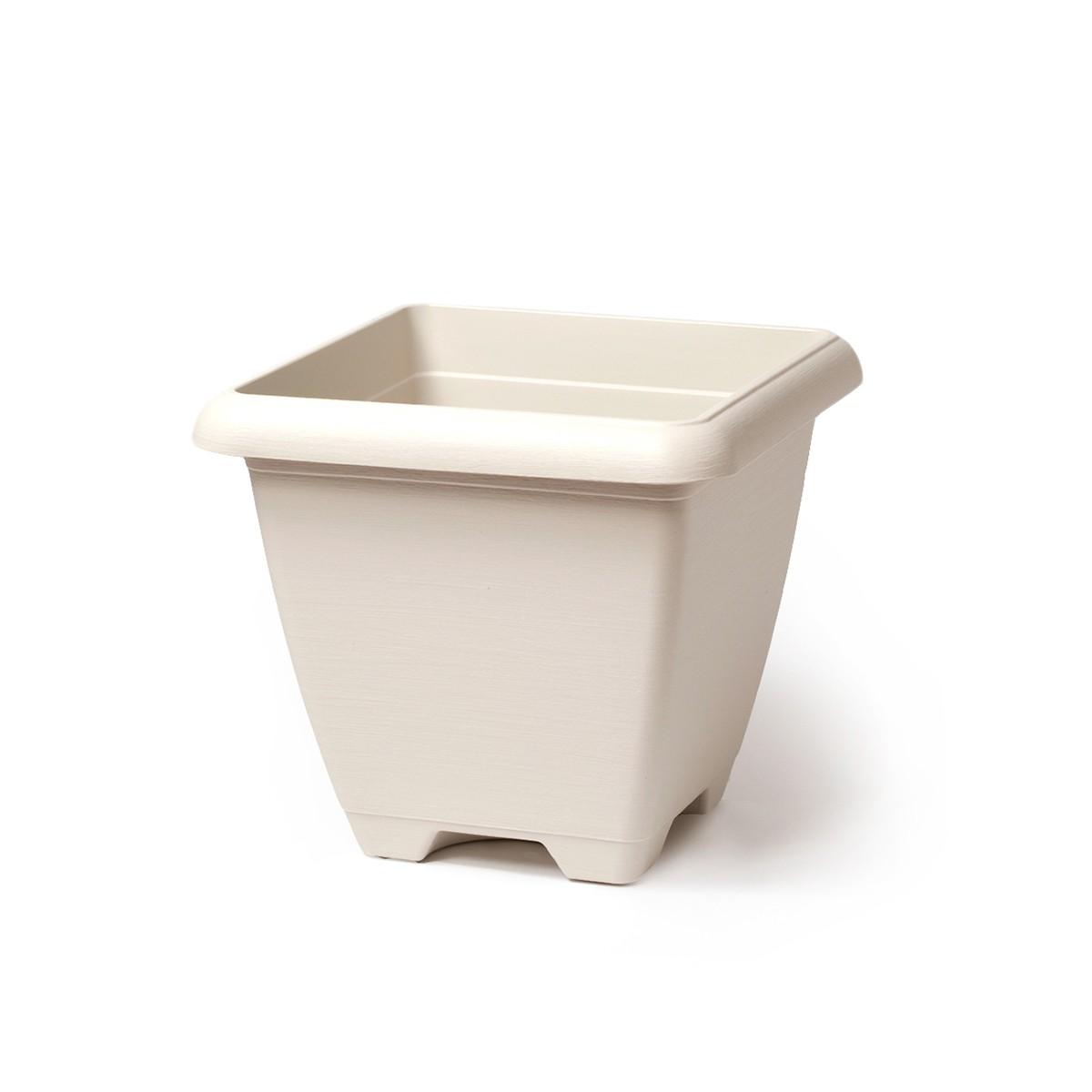Vaso Quadrato Terrae Maxi Bianco Pietra