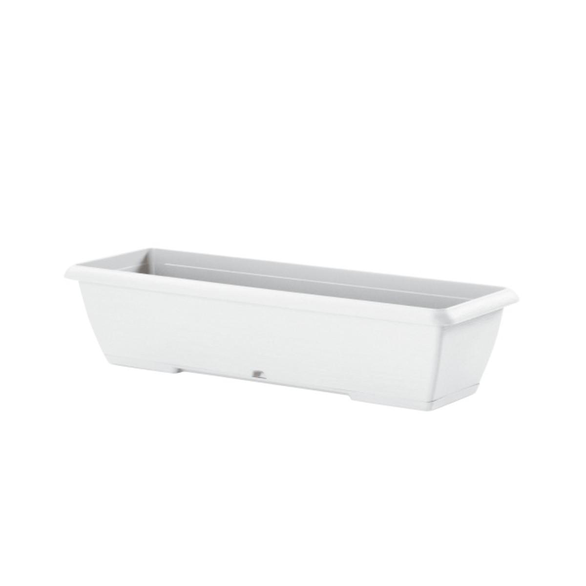 Fioriera 100 Cm Terrae Con Sottovaso Bianco Pietra