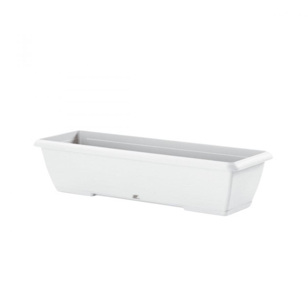 Cassetta Terrae Color Bianco Pietra, Lunghezza 100 Cm. Disponibili Altre Dimensioni Della Stessa Linea.