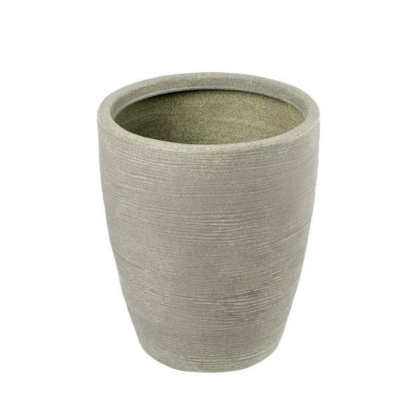 Vaso Rigato In Plastica Color Verde, Telcom - Class Collection. Si Abbina Perfettamente Al Vaso Tronco Conico Alto Ed è Disponibile In Due Diametri: 30cm O 37cm.
