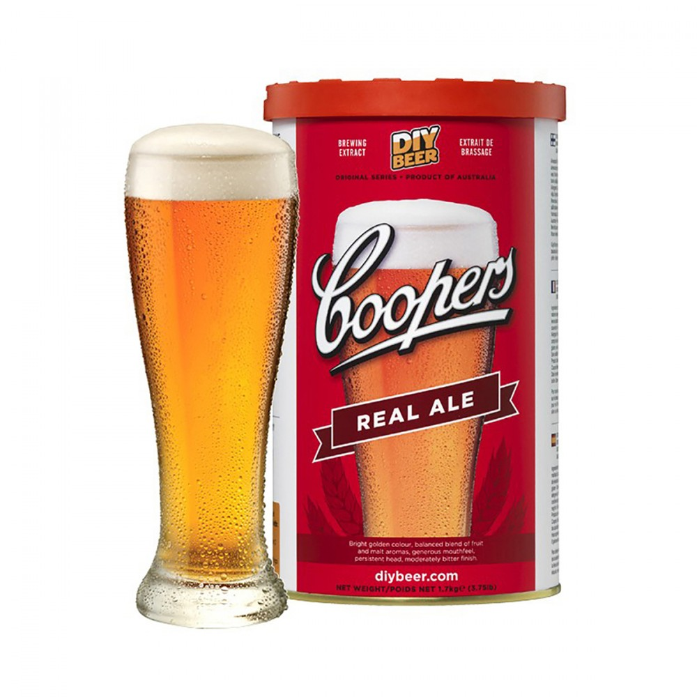 Kit Per Produrre Autentica Birra Ale (real Ale), Seguendo La Ricetta Coopers Più Tradizionale. Questa Birra Di Colore Dorato Brillante Ha Piacevoli Sapori Fruttati E Un Gusto Moderatamente Amaro Sul Finale.