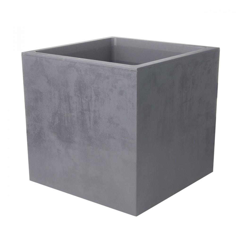 Cassetta Millennium Cubica Con Doppio Fondo Per Riserva D'acqua, Color Antracite. Texture Con Effetto Opaco/cemento, Dal Design Raffinato. Disponibile In Più Misure.