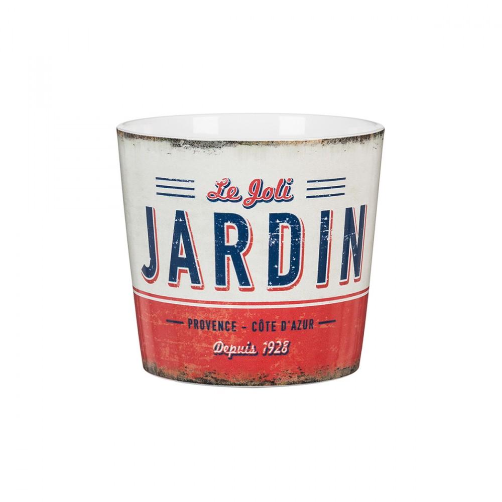 """Vaso Con Stampa """"le Joli Jardin"""". Disponibile In Due Misure Diverse."""