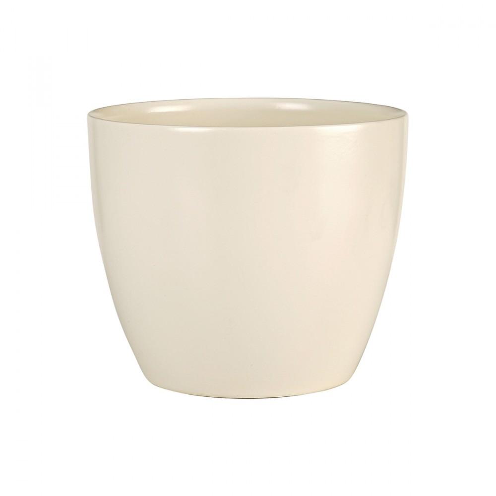 Vaso Color Crema Dal Design Semplice, Ideale Per Ambienti Interni. Disponibile In Altre Colorazioni.