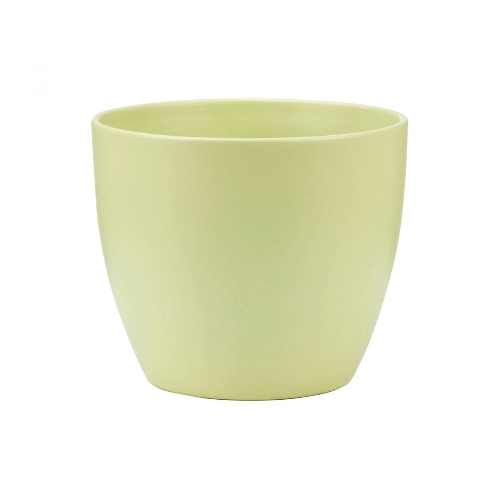 Vaso Color Verde Chiaro Dal Design Semplice, Ideale Per Ambienti Interni. Modello Disponibile In Altre Colorazioni.