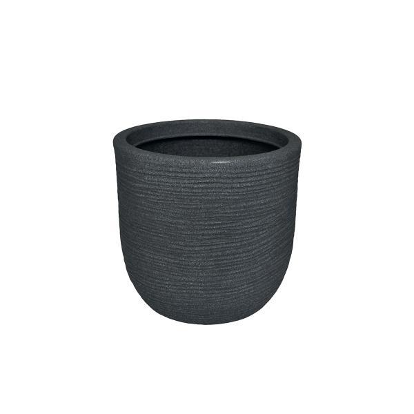 Vaso In Plastica Color Ghisa, Telcom - Class Collection. Dalla Forma Arrotondata, A Conchiglia, Questo Vaso Dal Design Rustico è Disponibile In Diversi Diametri: Da 27cm A 45cm.