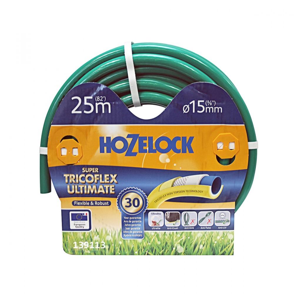 Tubo Super Tricoflex Ultimate Di Hozelock-exel Adatto All'utilizzo Intenso. Ha Una Lunghezza Di 15 Metri E Un Diametro Di 15 Mm, è Il Tubo Non Plus Ultra, Ultraleggero, Flessibile E Robusto. E' Privo Di Plastificanti Nocivi (pet) E Metalli Pesanti.