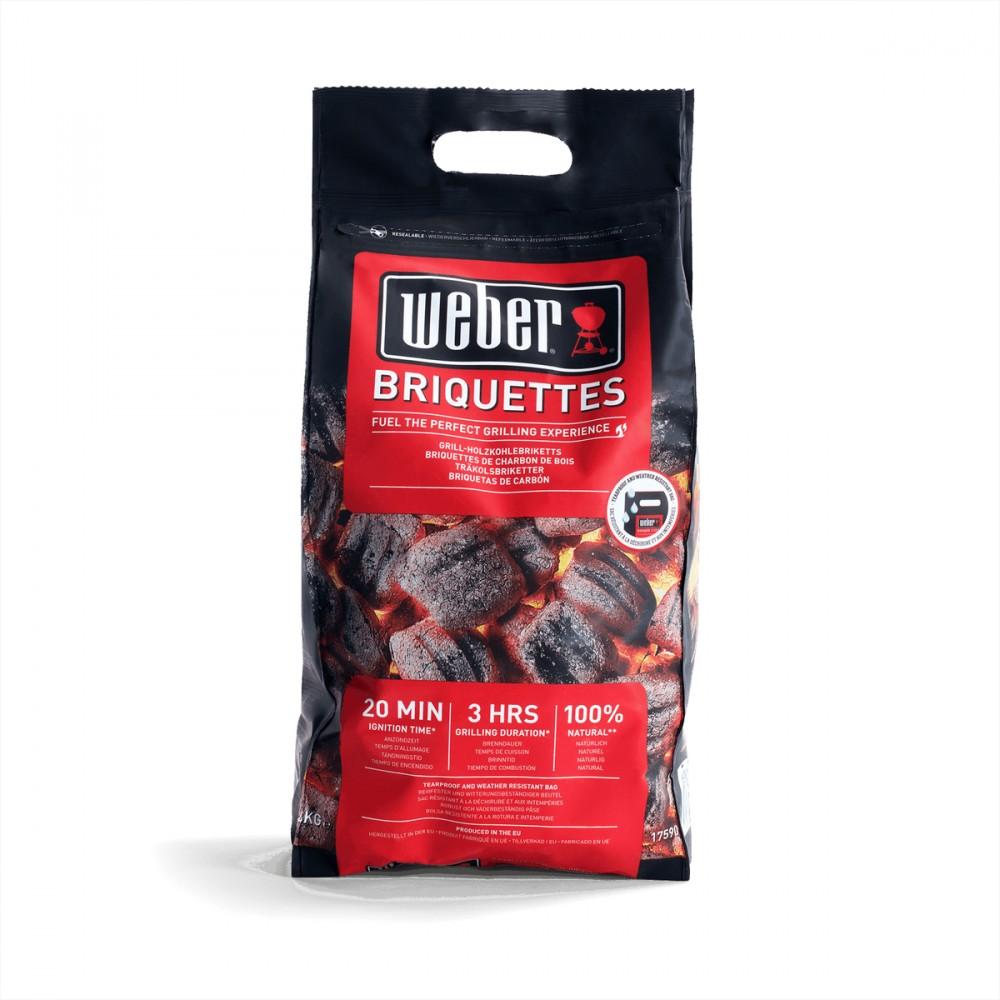 I Bricchetti Di Weber Sono Il Combustibile Perfetto Per La Tua Carne: Un'accensione Rapida E Di Lunga Durata, Senza Il Bisogno Di Sostanze Chimiche.