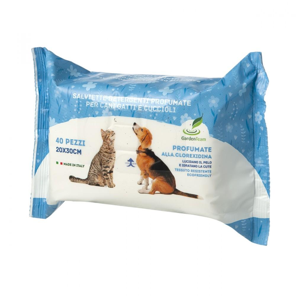 Salviettine Alla Clorexidina, Specifiche Per Cani E Gatti, Che Con Periodico Passaggio Aiutano A Conservare Il Pelo Pulito E Lucido.
