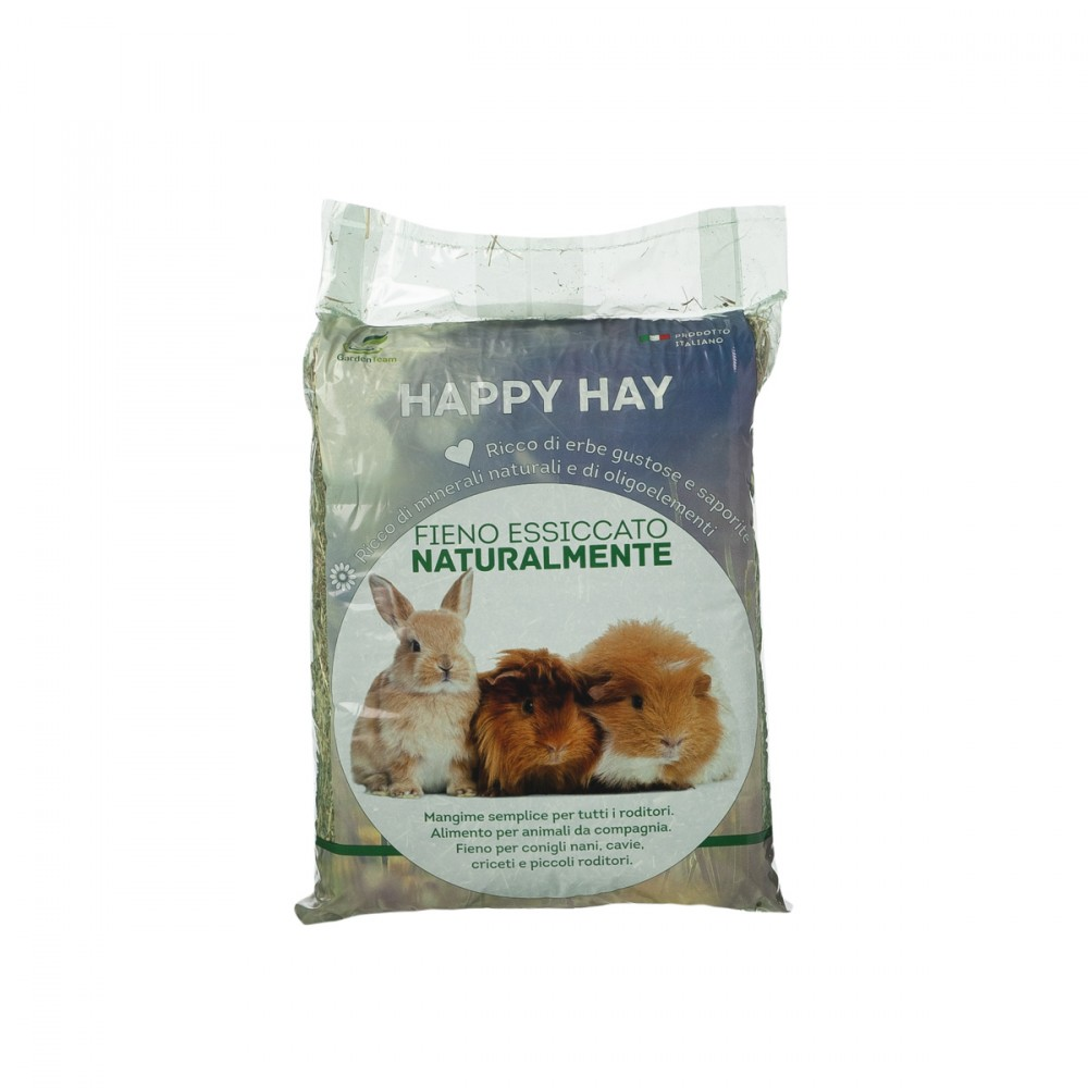 Happy Hay è Un Fieno Di Qualità Per Roditori E Conigli. Il Fieno è Importante Per Loro E Questo è Particolarmente Selezionato E Ben Essiccato.