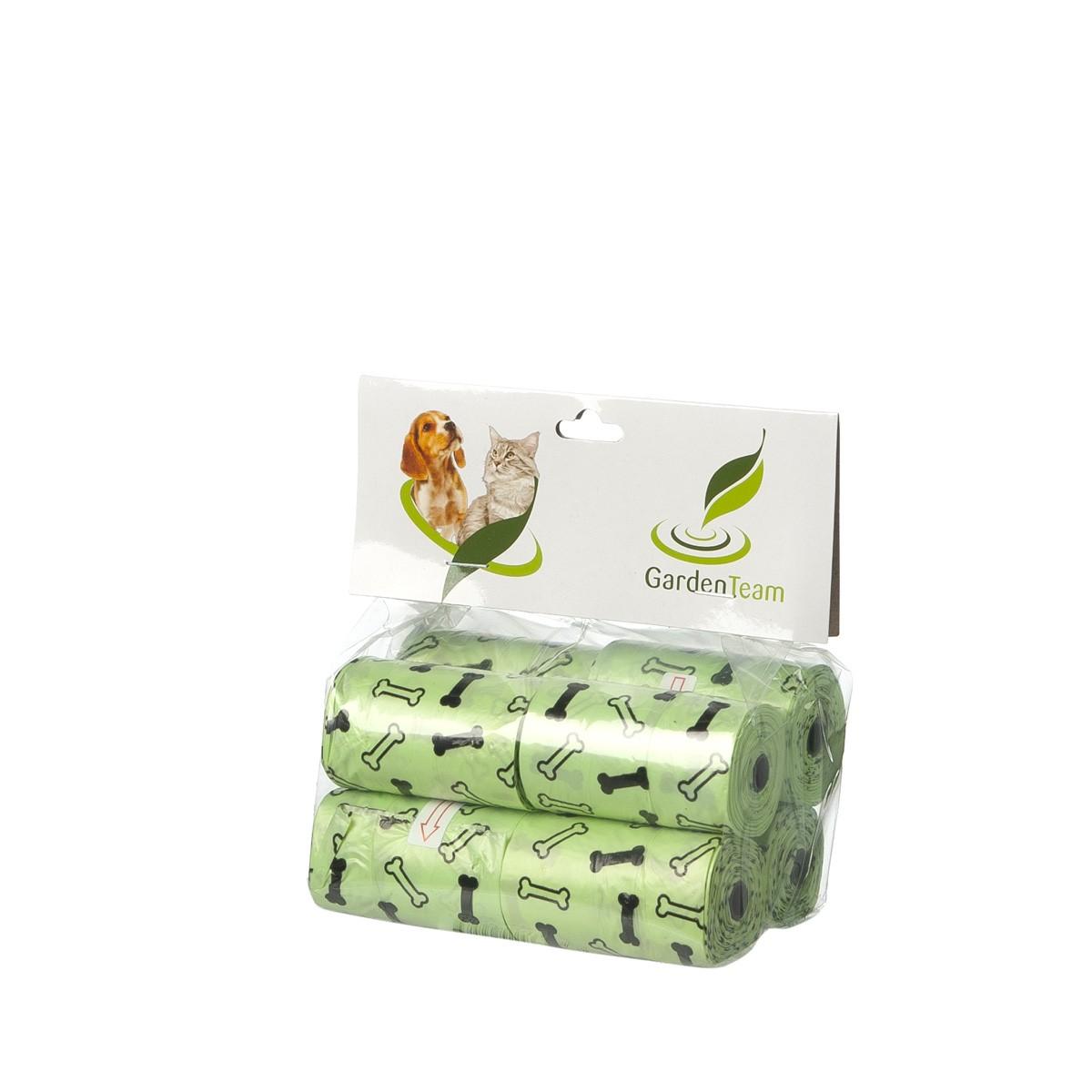 Sacchettini Igienici Ecologici Verdi 8 Rotoli