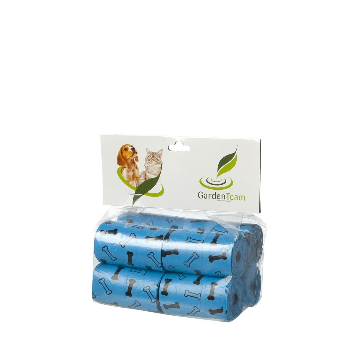 Sacchettini Igienici Ecologici Azzurri 8 Rotoli