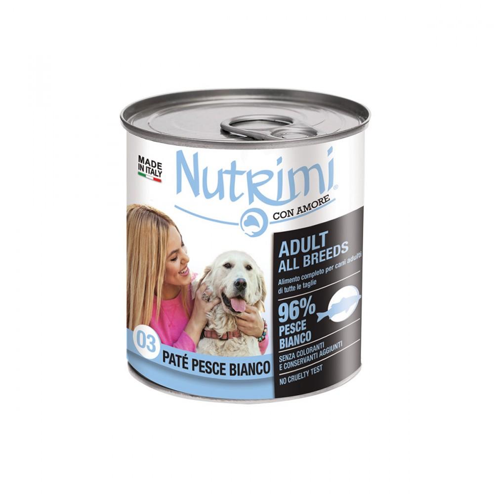 Adult All Breeds Paté Con Pesce Bianco è Un Alimento Completo Per Cani Adulti Di Tutte Le Taglie. Un Prodotto Appetibile E Digeribile, Formulato Con Materie Prime Selezionate E Un'altissima Percentuale Di Pesce (pesce Bianco 96%), Con L'aggiunta Di Vitamine E Elementi Nutritivi Essenziali Per Il Fabbisogno Nutrizionale Del Cane. Nutrimi è La Prima Linea Di Alimenti Per Gatti Realizzata Da Noi Di Viridea. Un Alimento Completo Sviluppato Per Garantire Il Benessere Alimentare Di Cui Hanno Bisogno I Nostri Amici A Quattro Zampe. Segui Il Tuo Cuore E Prova I Paté Nutrimi Con Amore, Ricette Sane E Gustose, Formulate Con Almeno Il 90% Di Carne.