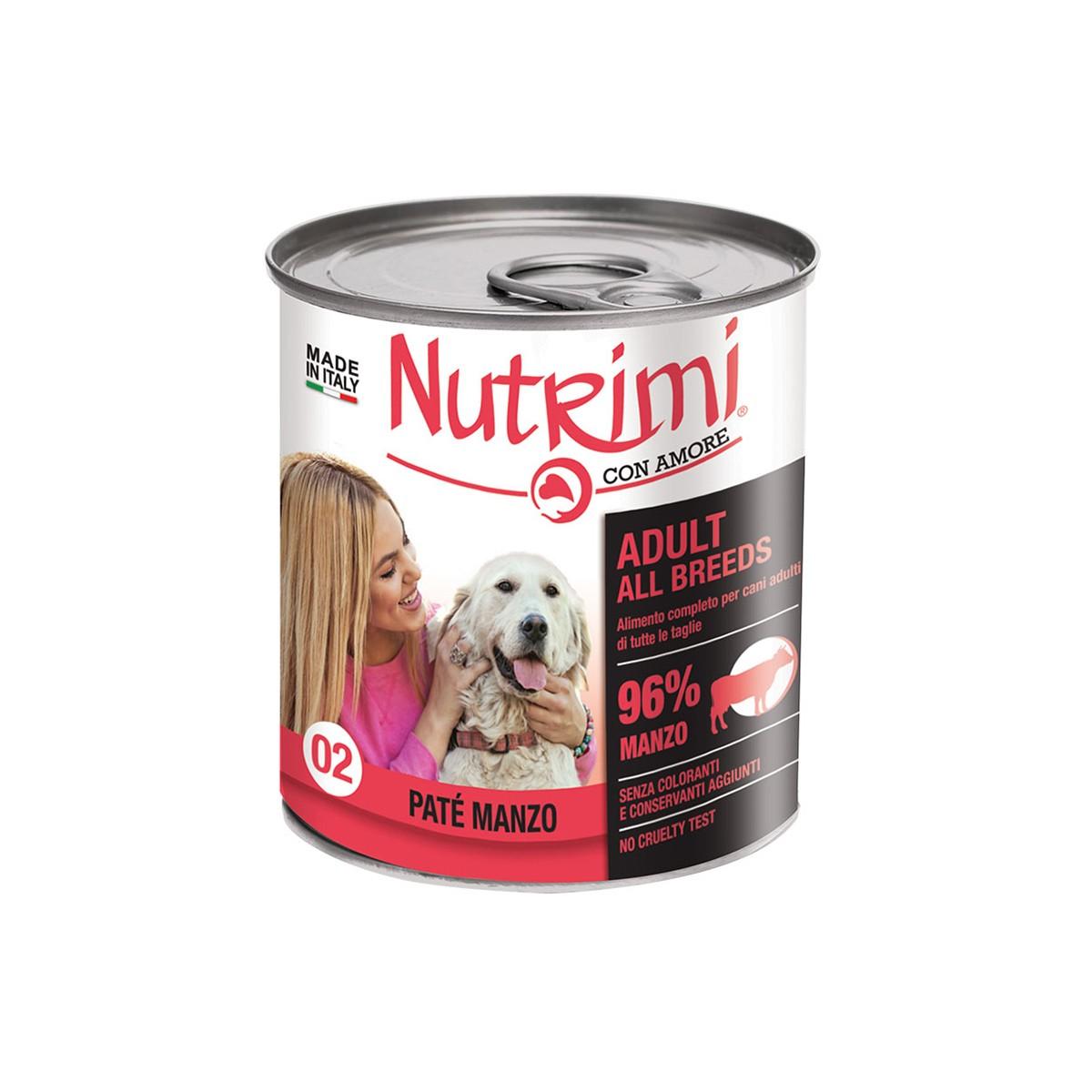 Nutrimi Pate' Adult Manzo 400 G