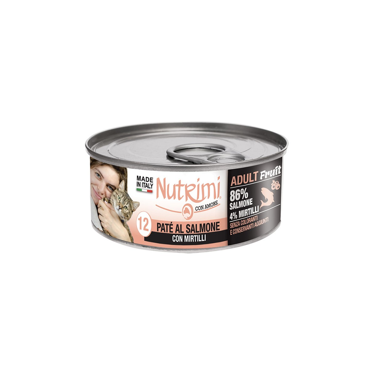 Nutrimi Pate' Adult Salmone Con Mirtillo