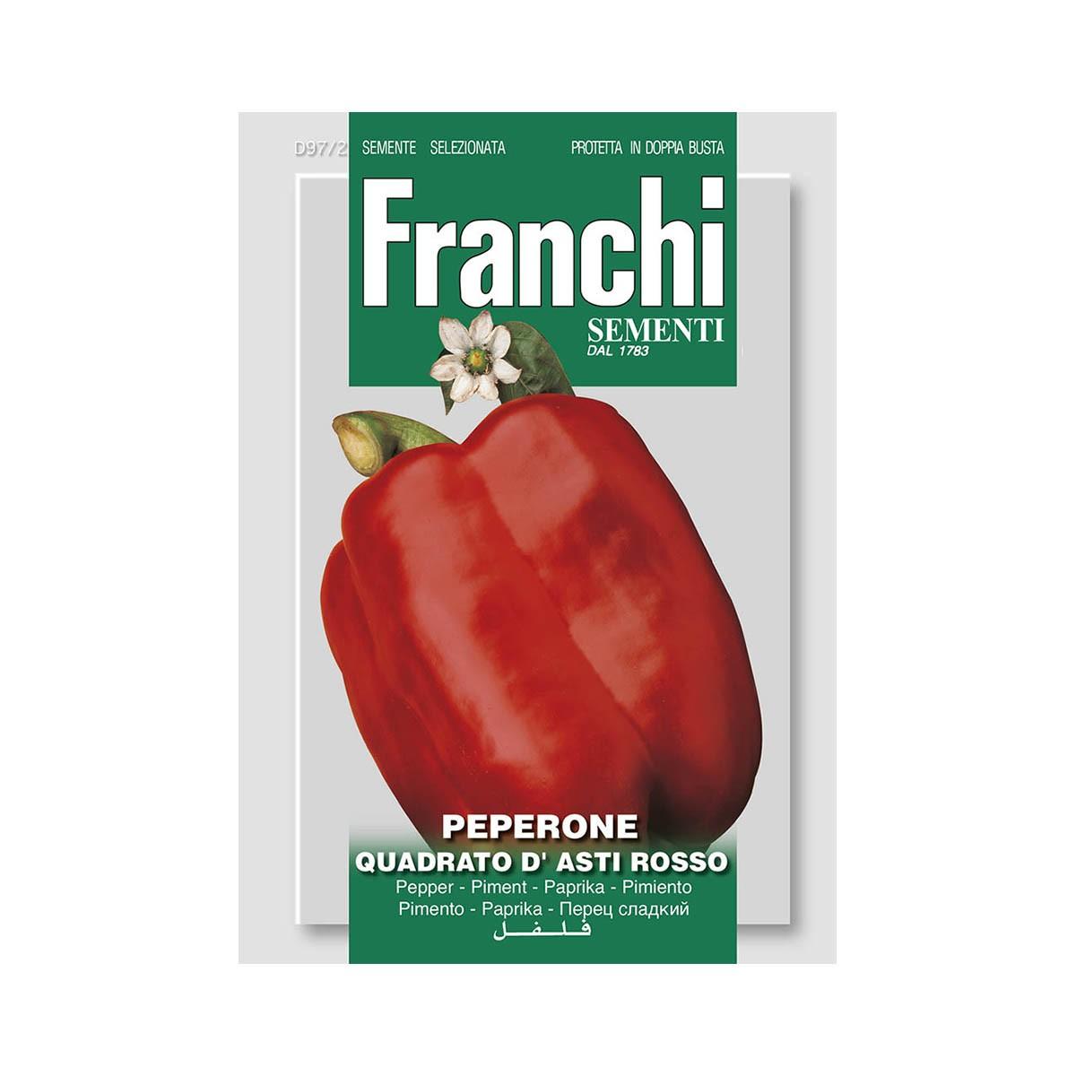 Semi Peperone Quadrato D'asti Rosso