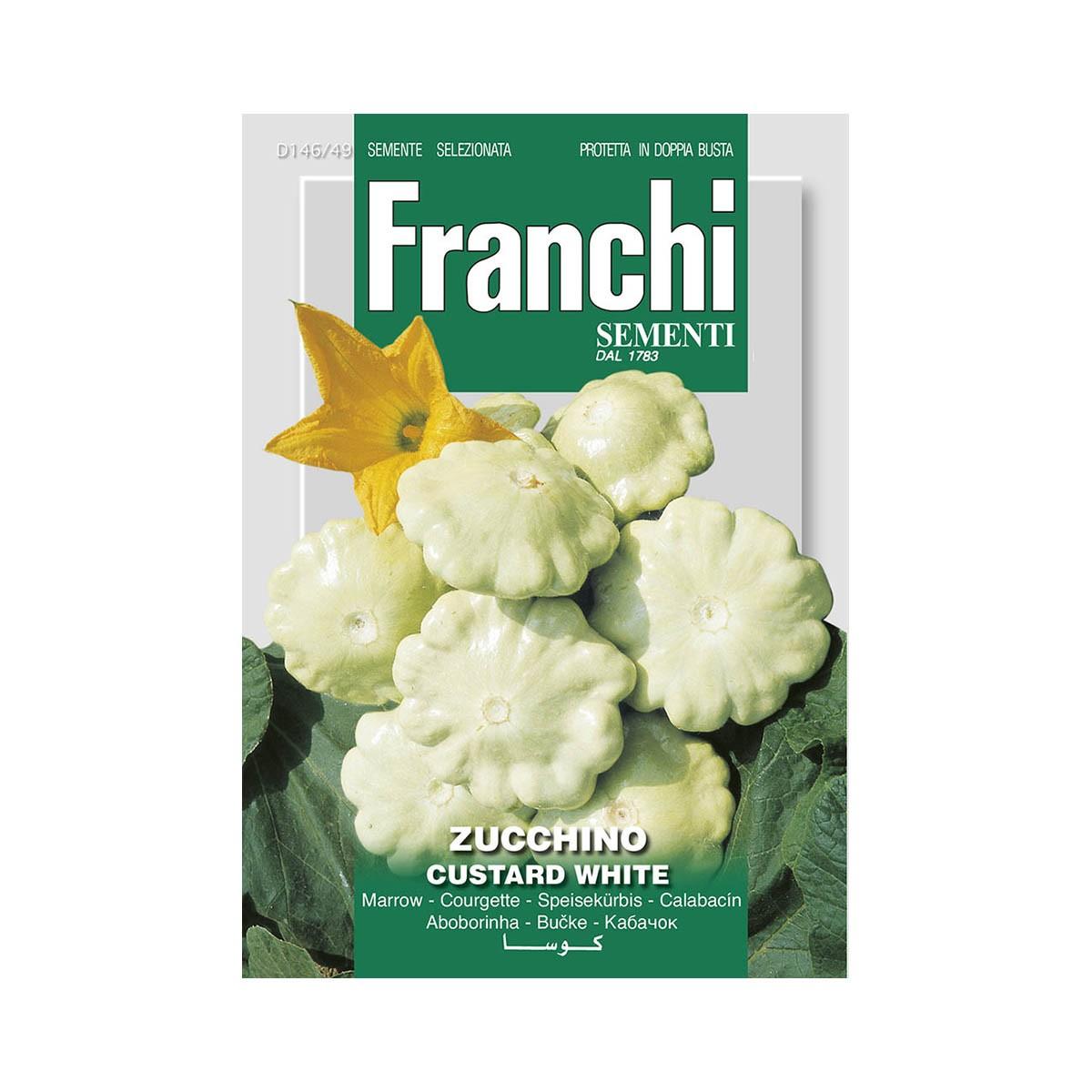 Semi Zucchino Custard White
