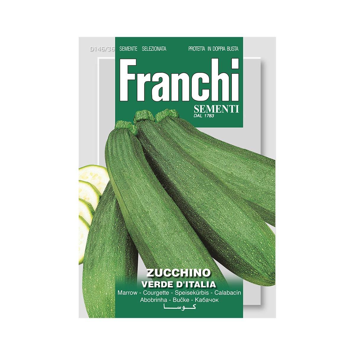 Semi Zucchino Verde D'italia