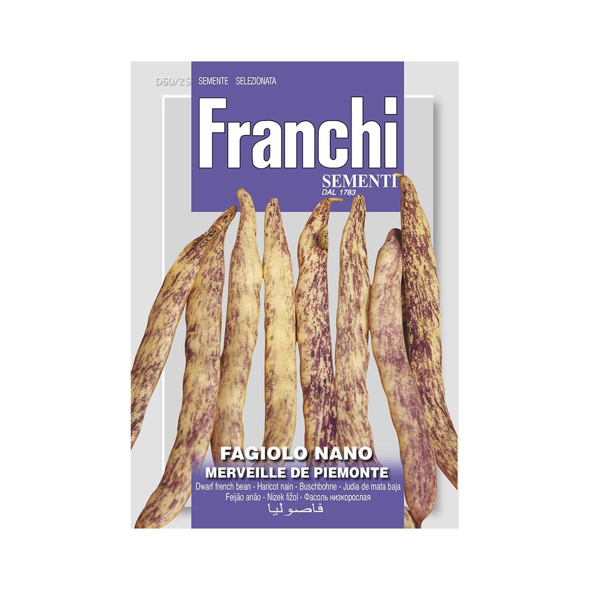 Semi Fagiolo Nano Meraviglia Del Piemonte