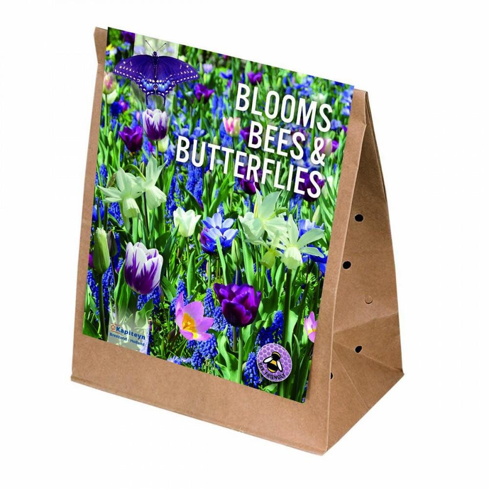Un Miscuglio Di Bulbi Da Fiore Che Atrae Farfalle E Api E Da Un Fioritura Per Tuttela Primavera.