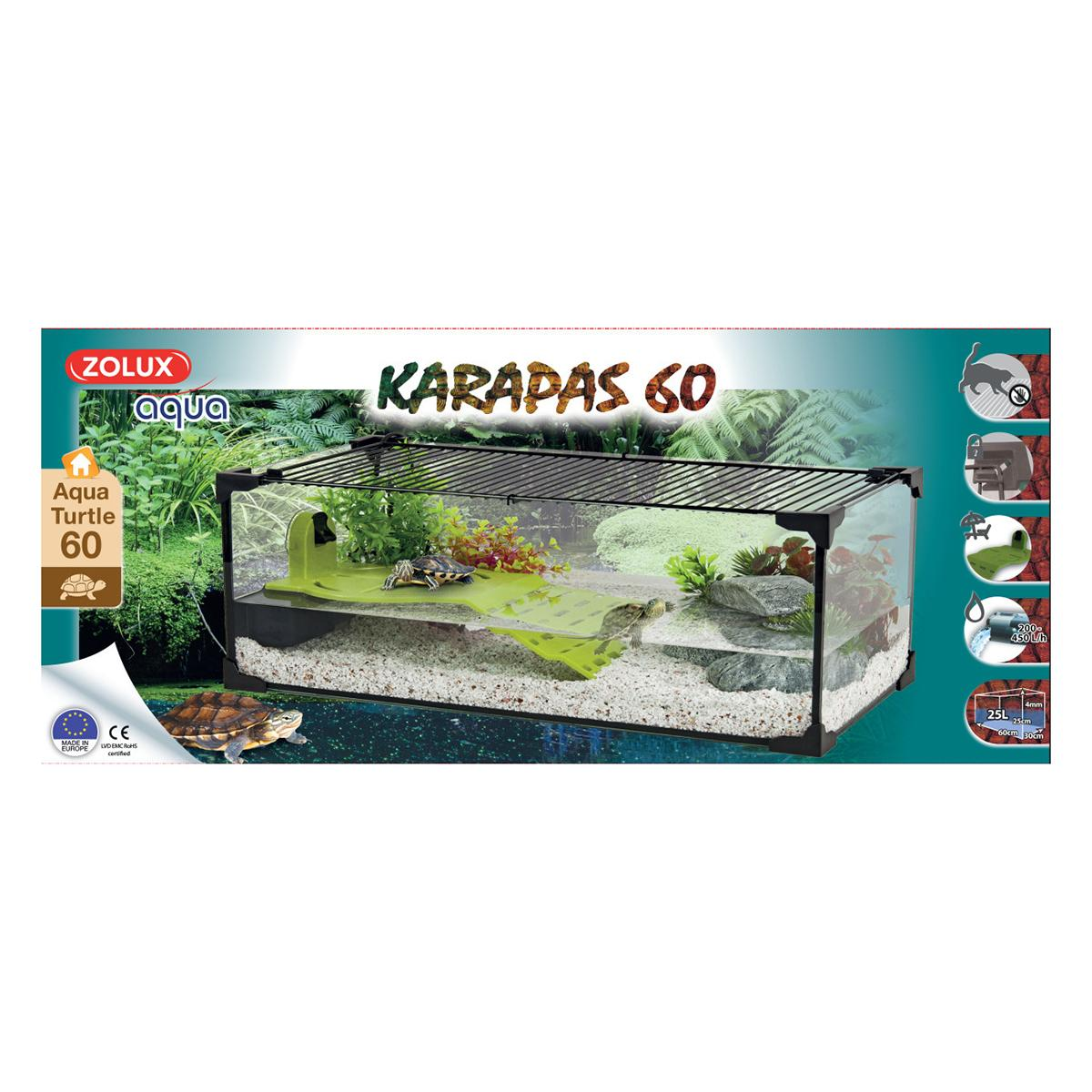 Tartarughiera Karapas Aqua Bianca 60 Cm