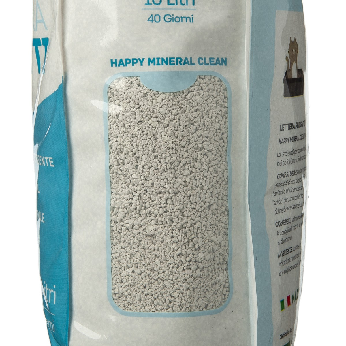 Happy Mineral Clean Clorex Lettiera 10 L