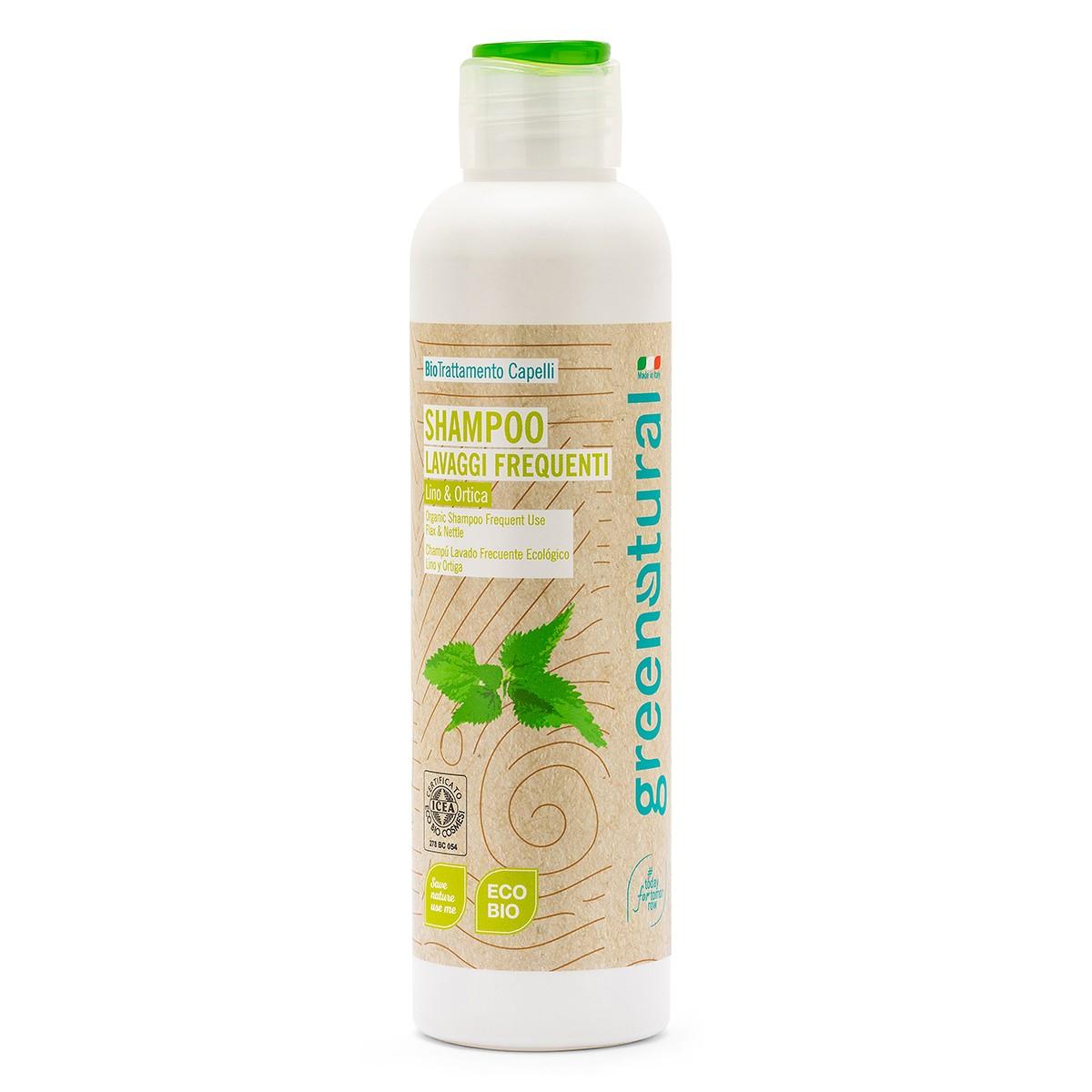 Shampoo Lavaggi Frequenti Lino & Ortica Ecobio - 250 Ml