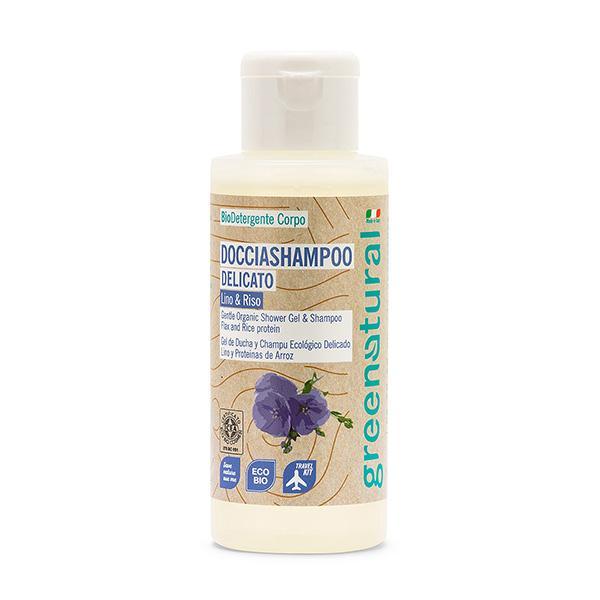 Doccia Shampoo Ultra Delicato Di Greenatural Con Lino E Riso: Deterge Corpo E Capelli Grazie Ai Suoi Ingredienti Naturali Ed Estratti Vegetali Biologici.