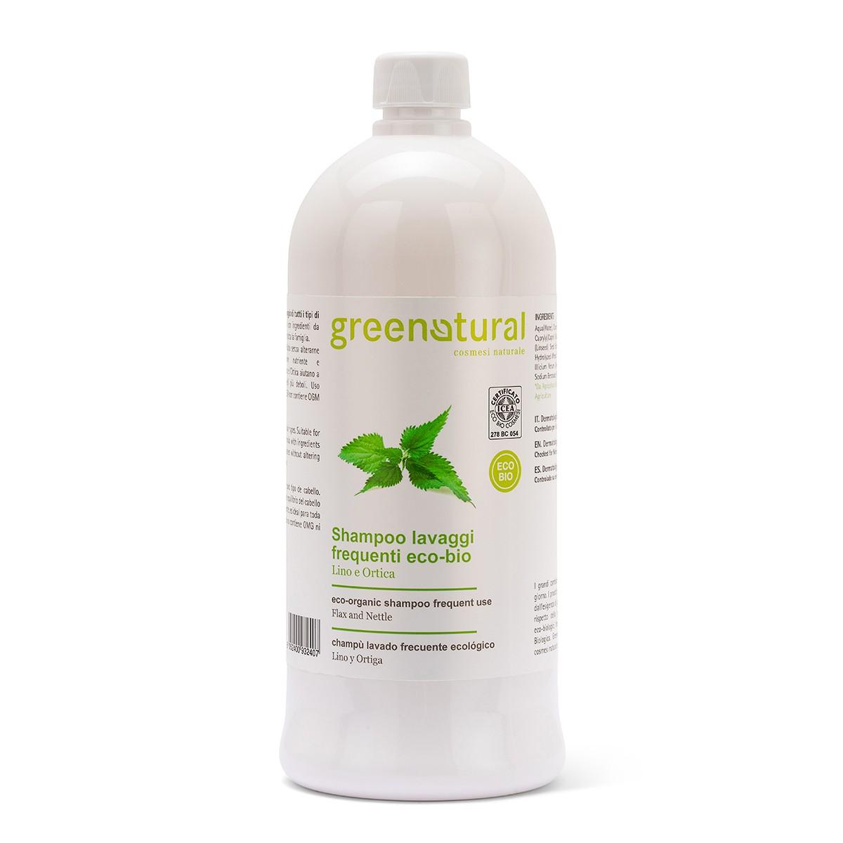 Shampoo Lavaggi Frequenti Lino & Ortica Ecobio - 1 Litro