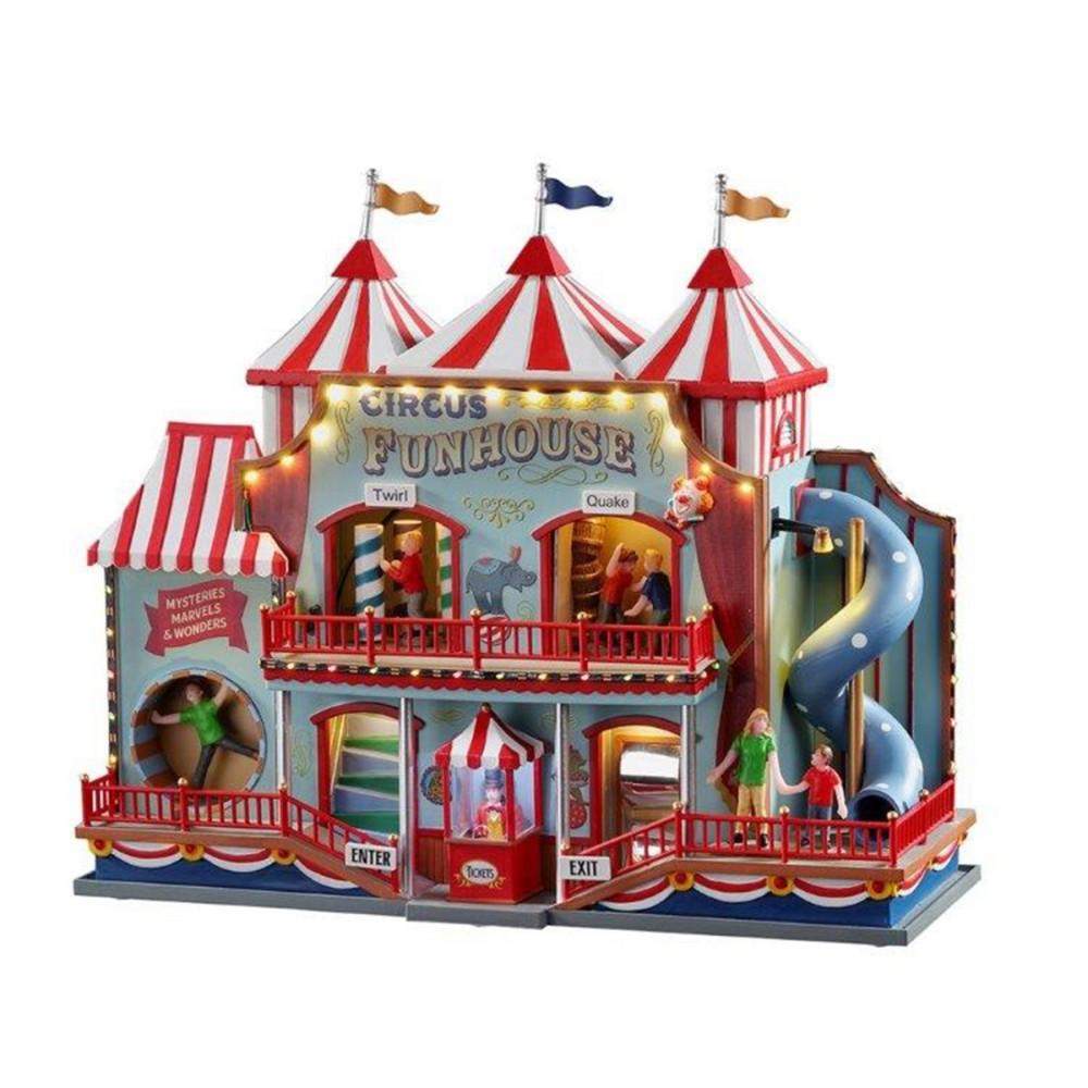 Edificio Per Villaggi, 'circus Funhouse'. Un'attrazione Da Lunapark In Perfetto Stile Lemax Per Donare Un Angolo Di Divertimento Al Tuo Villaggio Natalizio. Questo Prodotto è Una Novità Del 2020!
