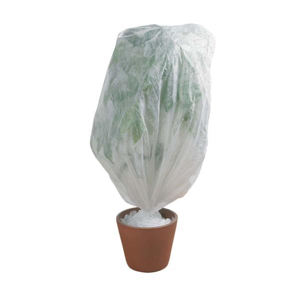 Cappuccio In Tnt Bianco Ideale Per Tutelare Dal Gelo Piccole Piante In Vaso. Confezione Da 3 Pz.