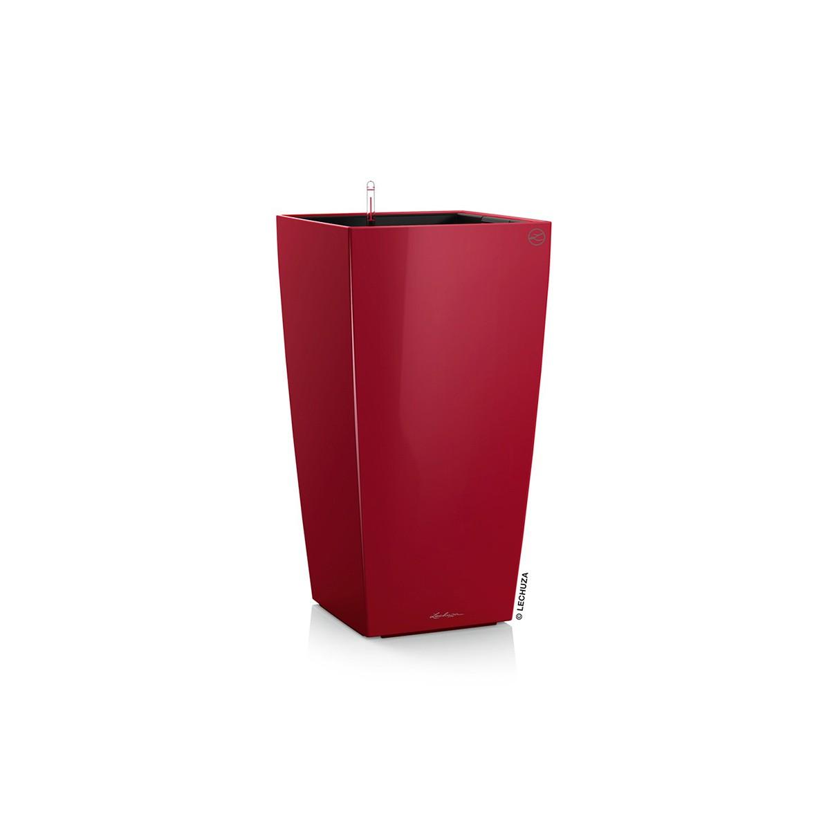Vaso Alto Cubico Premium Rosso Lechuza