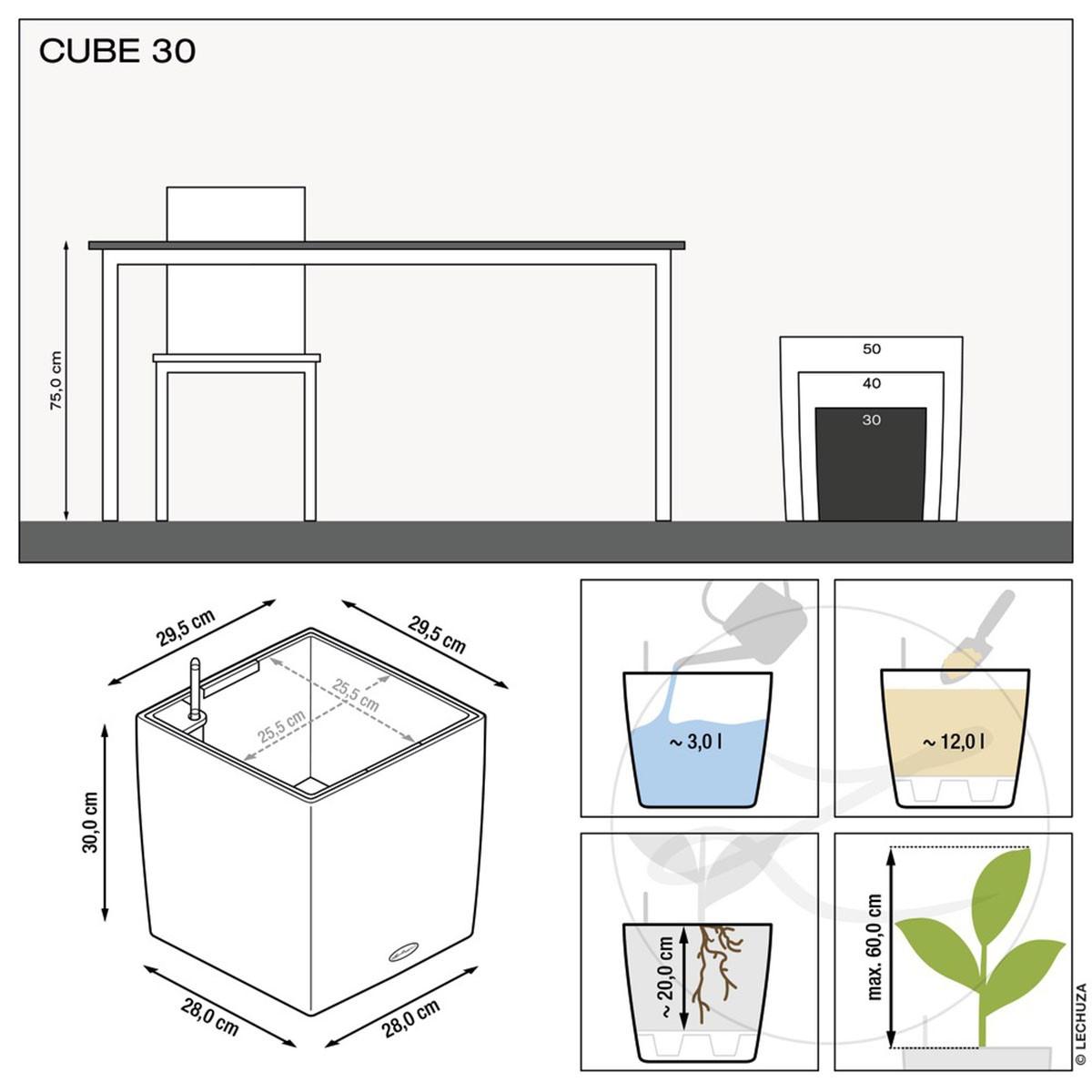 Vaso Cube Premium Rosso Lechuza
