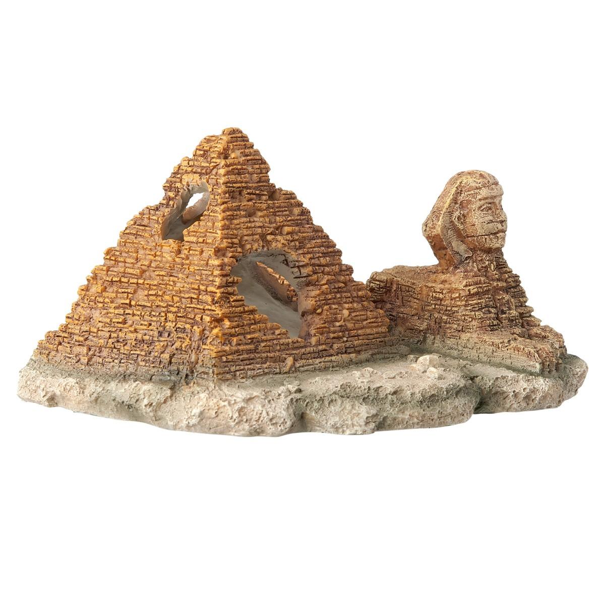 Decorazione Per Acquari Piramide E Sfinge