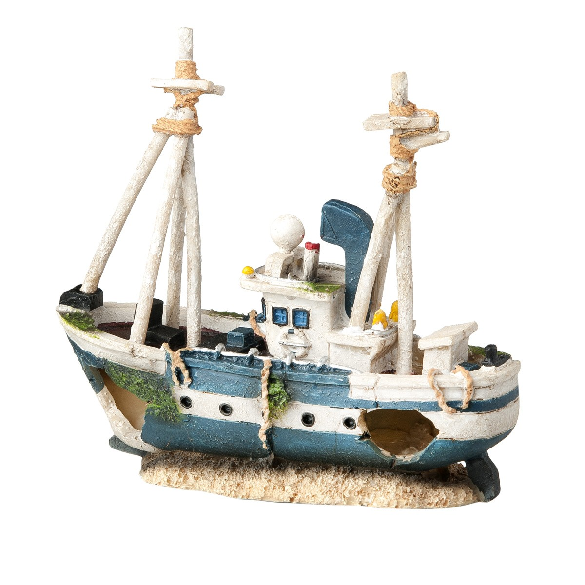Decorazione Per Acquari Barca Dei Pescatori