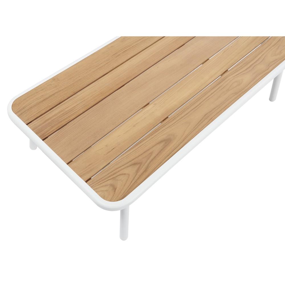 Salotto Da Esterno 4 Posti Con Tavolino Rettangolare Divano E 2 Poltrone Milton