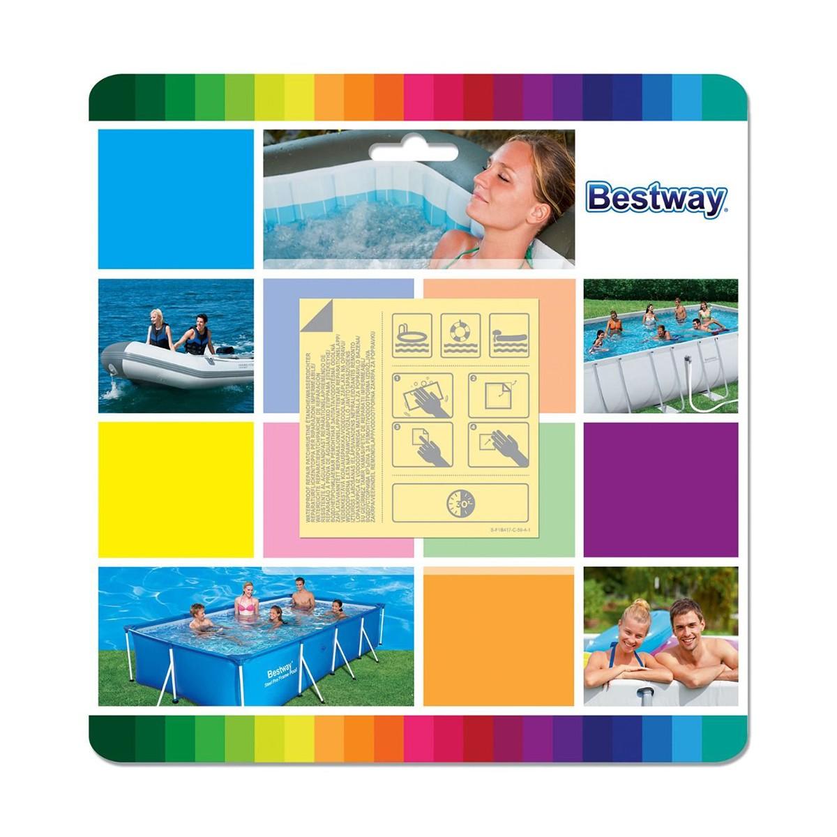 Bestway Toppe Di Riparazione Resistenti All'acqua Per Piscine