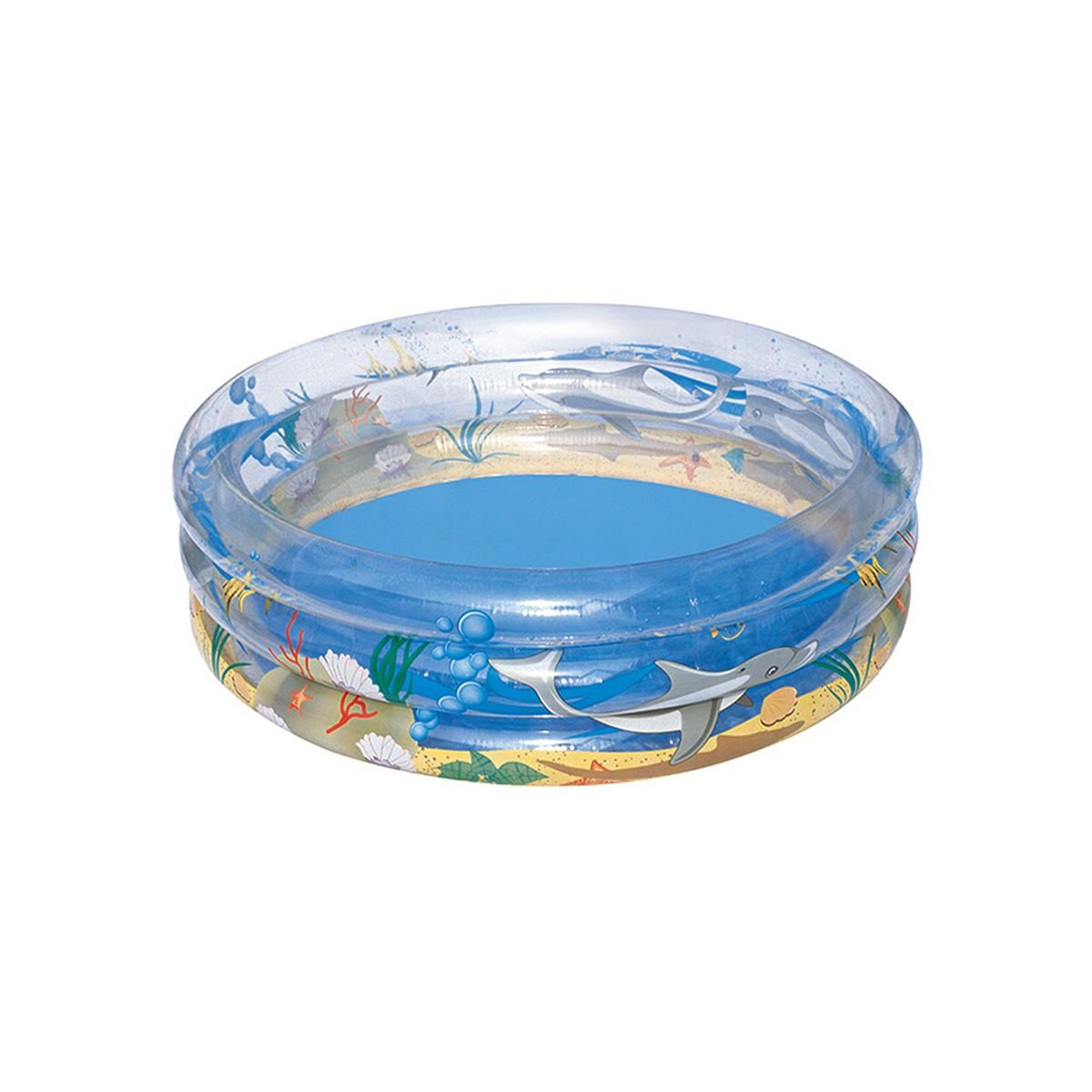 Bestway Piscina Sea Life Trasparente A 3 Anelli 150 Cm